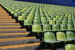Empty Stadium Seats Royalty Free Stock Image