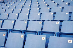Empty stadium seats Stock Photos