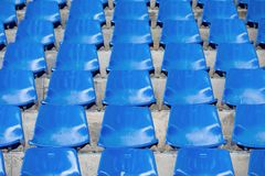 Empty stadium seats in arena. Old and dirty  concept Royalty Free Stock Image