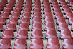 Empty stadium seats in arena. Old and dirty  concept Stock Images