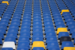 Empty stadium seats Royalty Free Stock Images