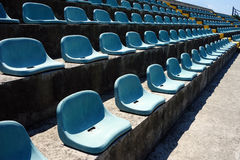 Vacant Stadium Seats Royalty Free Stock Image