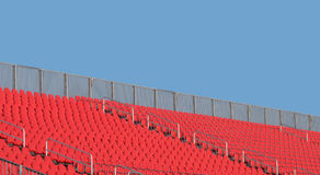 Empty stadium seats and sky Royalty Free Stock Photos