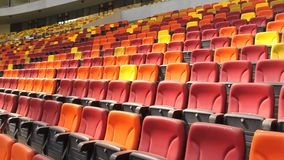 Empty stadium seats stock footage