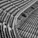Empty stadium seats. At Wrigley Field in Chicago, Illinois Stock Images