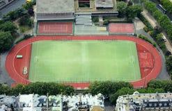 Empty stadium soccer field Stock Image