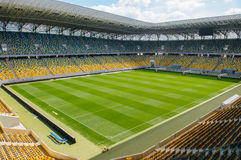 Empty stadium in sunlight Royalty Free Stock Image