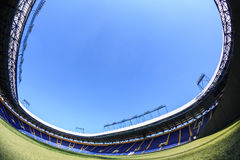 "Empty stadium ""Metalist"". Panoramic view. Stock Photo"