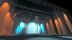 Empty stage Royalty Free Stock Images