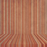 Empty stage. With stripes on wall and floor Royalty Free Stock Image