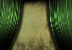 Empty Stage. With grunge wall stock image
