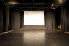 Empty stage. Empty cinema stage with spotlights Stock Photography