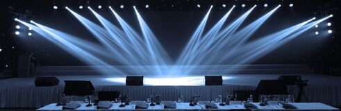 Free Empty Stage And Concert Lighting Background In Award Ceremony Theme Creative Or Singing Contest Stock Photography - 187698112