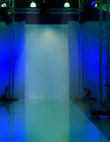 Empty stage with blue light Royalty Free Stock Photos