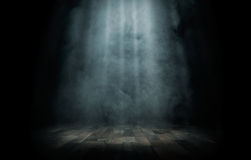 Empty stage. Close up of light beam at the empty stage with copy space royalty free stock photography