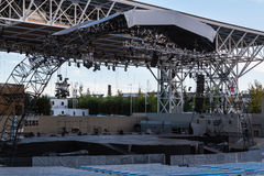 Empty Stage Before A Concert Royalty Free Stock Photography