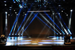 Empty stage in light beam Stock Photo