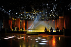 Empty stage in light Royalty Free Stock Photo