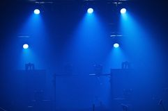 Empty stage. In silhouette before a concert Stock Photos