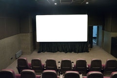 Empty stage in the small movie theater Stock Photography