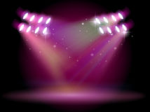 An empty stage with spotlights Stock Photos