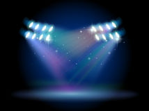 An empty stage with spotlights Royalty Free Stock Image