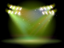 An empty stage with spotlights Stock Photo