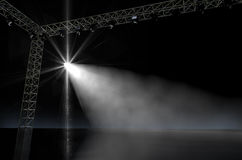 Empty Stage Spotlit Royalty Free Stock Photo