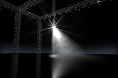 Empty Stage Spotlit Royalty Free Stock Images