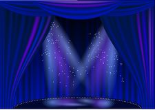 Empty stage theater Stock Photography