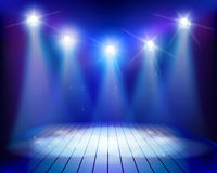 Empty stage. Vector illustration. Stock Image