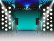 Free Empty Stage With Illumination And Dynamics, Scene Royalty Free Stock Photos - 148821578