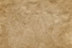 Empty stained old brown paper sheet. Background. Empty stained old brown paper sheet. Abstract background stock image