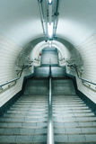 Empty Stair With Metal Stand in Middle Photo Royalty Free Stock Image