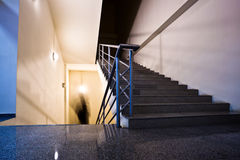 Empty staircase Stock Images