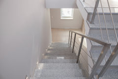 Empty staircase in detached house Royalty Free Stock Photography