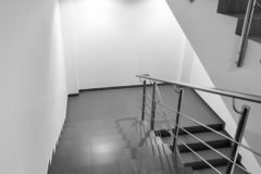 Empty staircase in a modern office building. royalty free stock photo