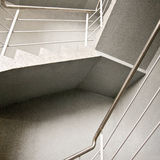 Empty stairway. Abstract composition of empty modern building stairway Stock Photos