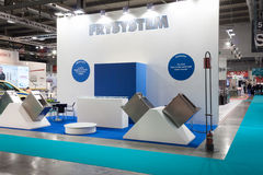 An empty stand at Host 2013 in Milan, Italy Stock Photo