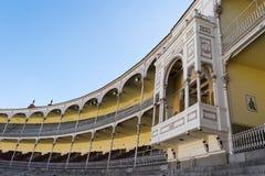 Empty stand of the Las Ventas Bullring Plaza de Toros de Las Ve royalty free stock images