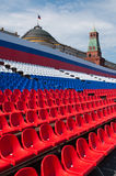 Empty stand on Red Square Stock Photos