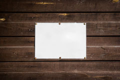 Empty standard sheet Stock Photography