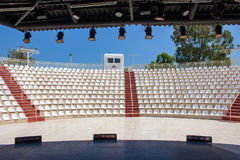 Empty stands of the amphitheater outside Royalty Free Stock Photo