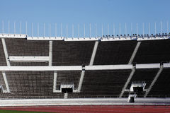 Empty stands of the stadium Royalty Free Stock Photography