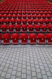 Empty stands of a stadium Royalty Free Stock Image