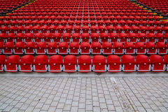 Empty stands of a stadium Stock Photo