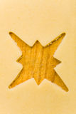 Empty star shape on raw cookie Stock Photography