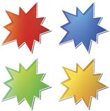 Empty star stickers Royalty Free Stock Photo