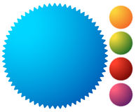 Empty starburst, sunburst button, icon background in 5 vibrant c. Olors. Generic design element. - Royalty free vector illustration royalty free illustration