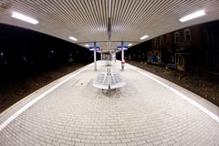 Empty station early morning Royalty Free Stock Images